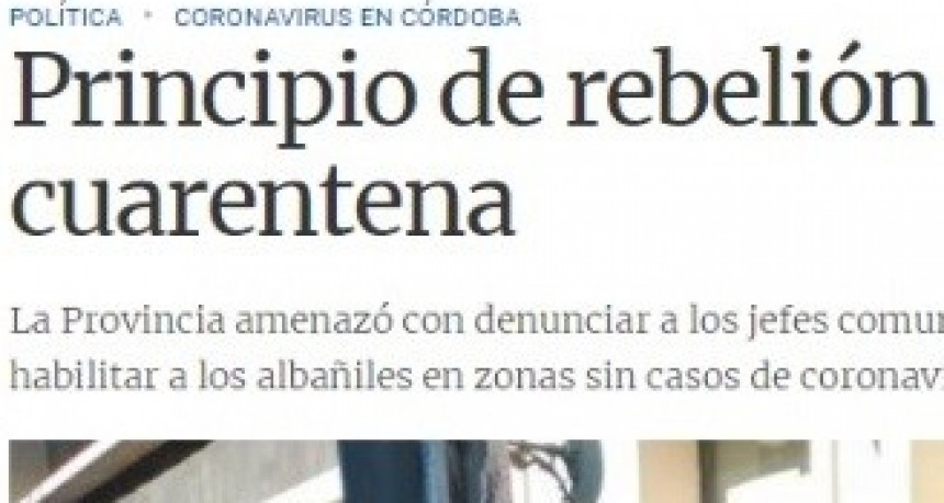 DURA ADVERTENCIA DEL GOBERNADOR A CLAUDIO FARIAS POR LA FLEXIBILIZACION.